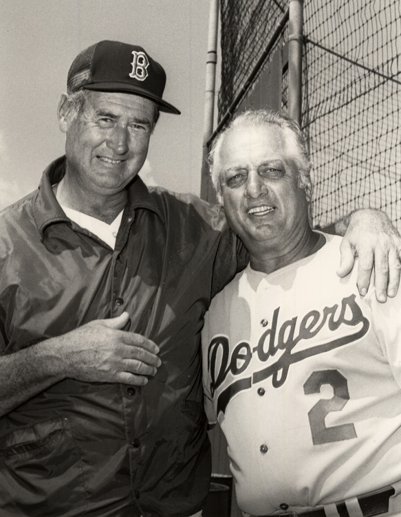 Tommy and Ted Williams.JPG