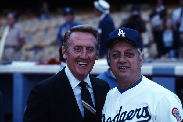 Tommy and Vin Scully 1981.JPG